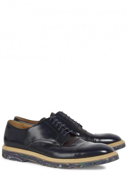 Thom navy leather Derby shoes - Men