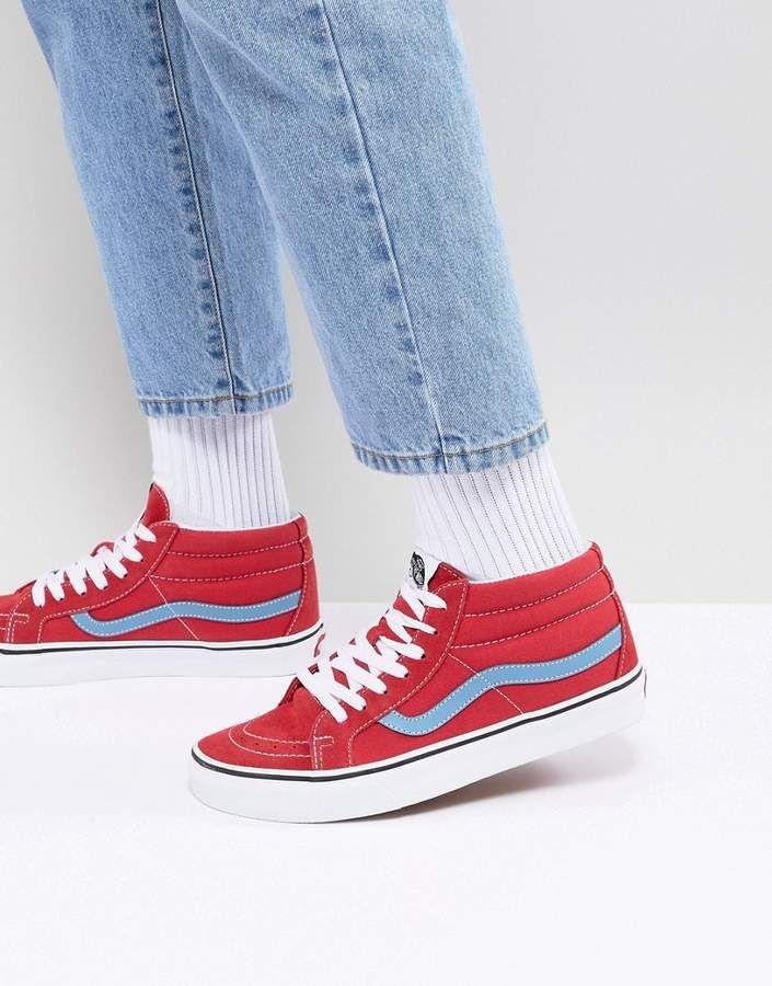 Vans SK8-Mid Reissue Sneakers In Red VA3MV8Q8C