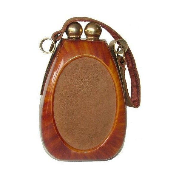 Art Deco bakelite handbag ❤ liked on Polyvore