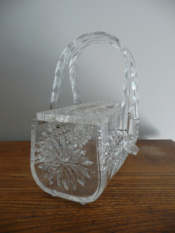 Lucite Purse 1950's  -  I have a similar purse.  I carried it for my daughte...