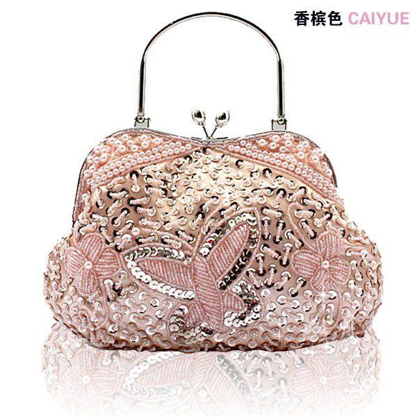 Retro Beaded Purses and Handbags | Silver E35 lady's handbag, beaded clutch ...