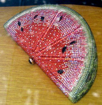 watemelon glitter clutch, saw a gorgeous JL in Vegas, only $7,000..if only those...