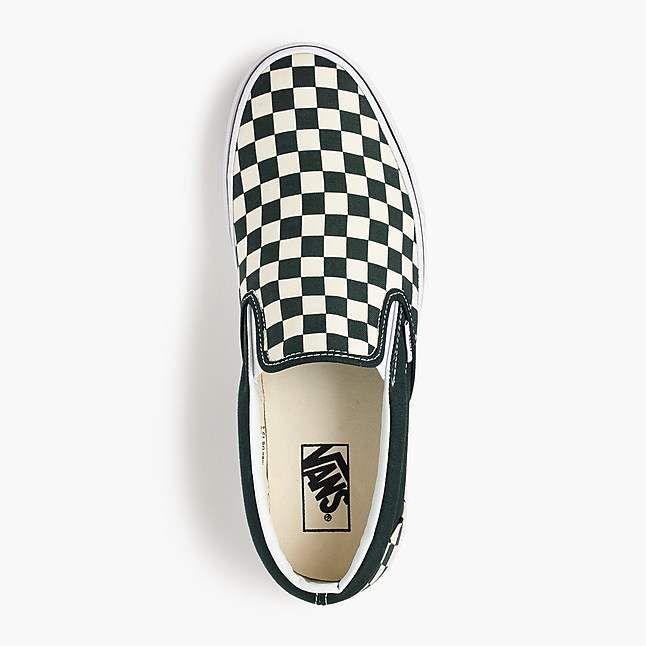 Vans®slip-on sneakers in checkerboard