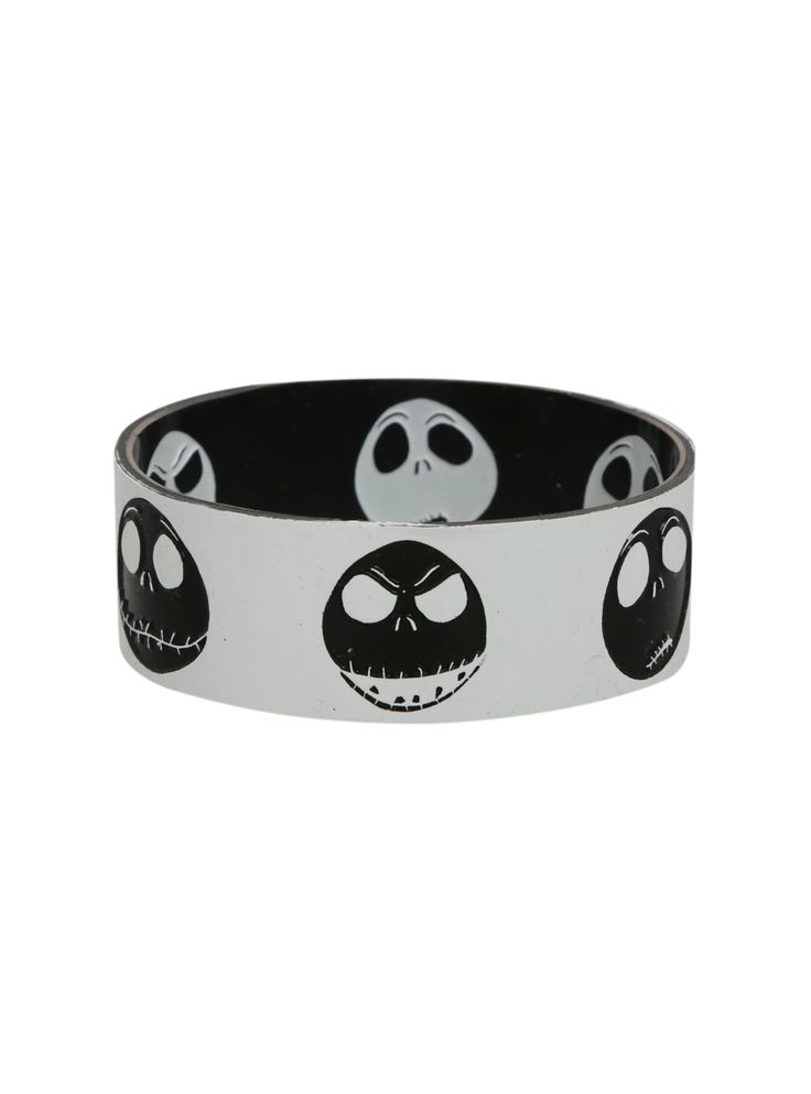 The Nightmare Before Christmas Jack Reversible Rubber Bracelet | Hot Topic