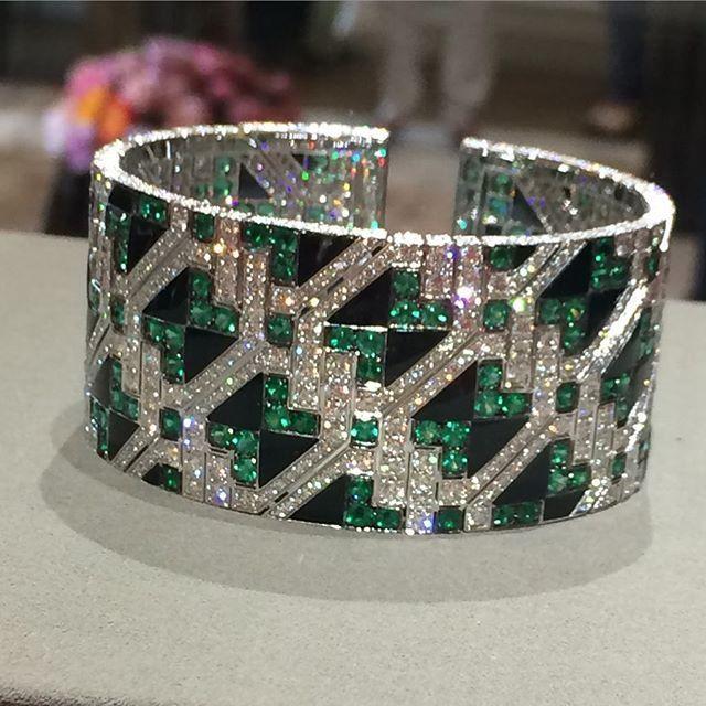 Giampiero Bodino Important Emerald and Diamond Cuff Bracelet | Saved for Future...