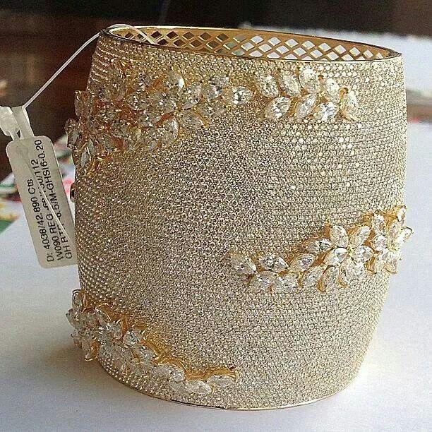 Amazingly beautiful diamond encrusted cuff from @kamyenjewellery
