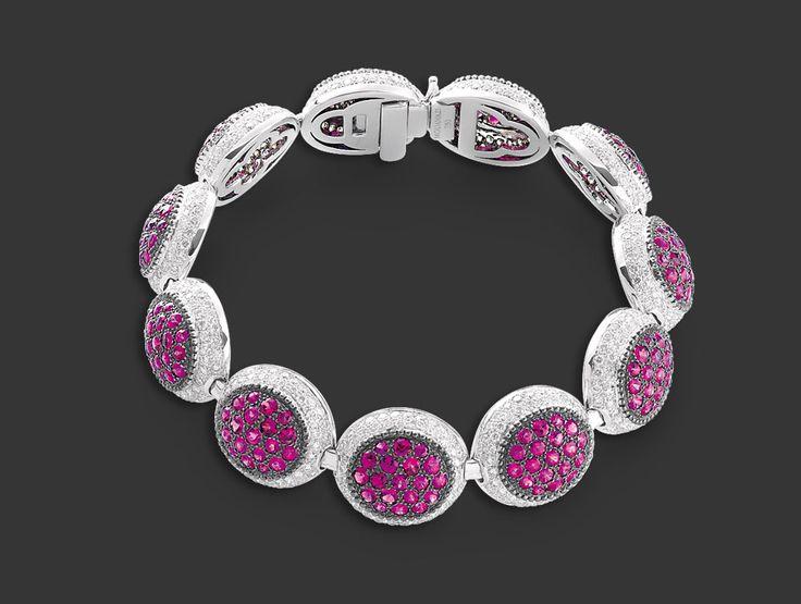 Mouawad - Rosette Diamond, Ruby, 18k White Gold Bracelet