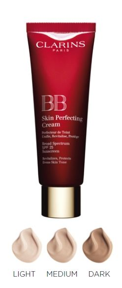 Clarins BB Skin Perfecting Cream SPF 25 Got a sample at the mall last week....OM...