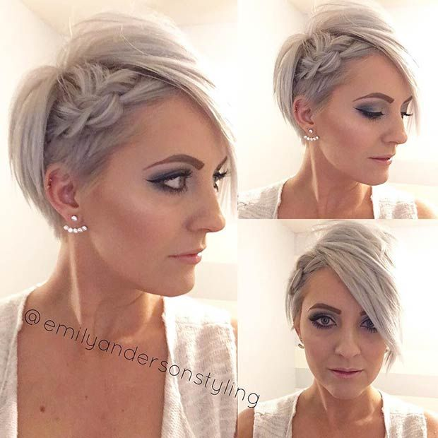 Fashionable Mens Haircuts Pixie Cut Hairstyle With A Side Braid