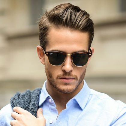 Professional Haircuts For Men - Short Sides with Brushed Back Hair