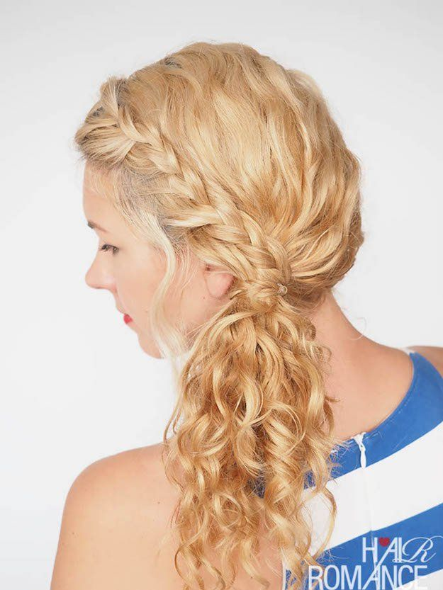 Hairstyles For Long Hair Braided Side Ponytail 12 Curly