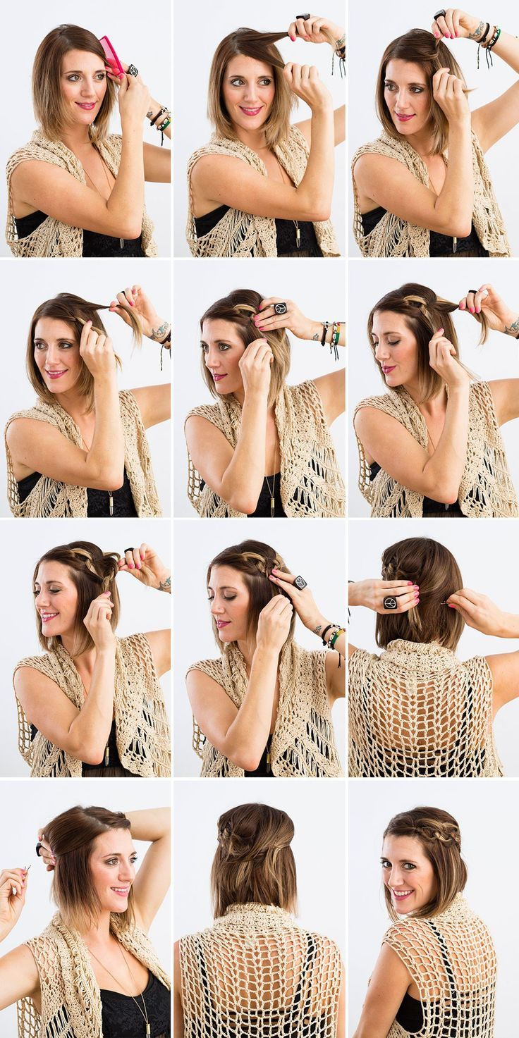 Easy Short Hairstyle at Home | DIY Hairstyles by Makeup Tutorials at makeuptutor...