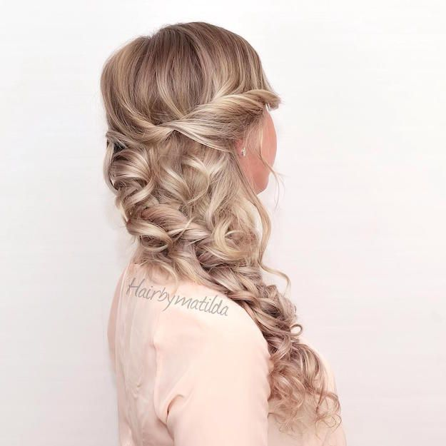 Hairstyles For Long Hair Loose Side Braid With Curls 12 Curly