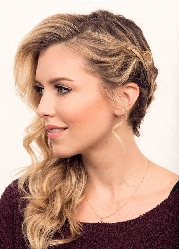 Hairstyles For Long Hair Side Wrap Braid 24 Perfect Prom