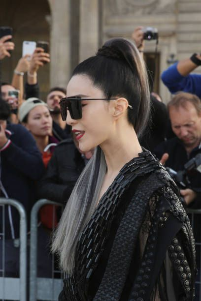 Actress Fan Bingbing attends the Louis Vuitton show as part of the Paris Fashion...