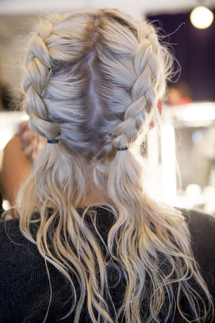 Coachella hairdo and hairstyle. Giles Spring | LOVE these braids. Would be great...