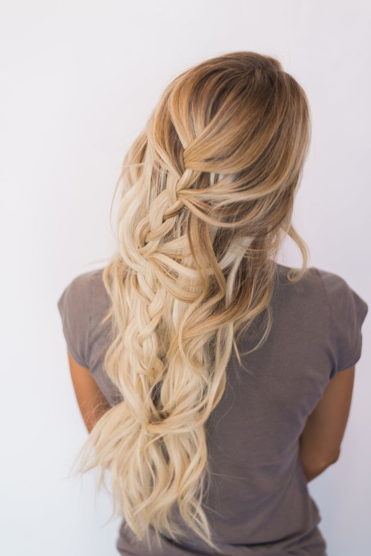 Long wide braid. Hairstyle ideas for long hair. Boho style. Messy hairdo.