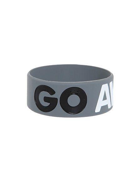 Go Away Rubber Bracelet | Hot Topic