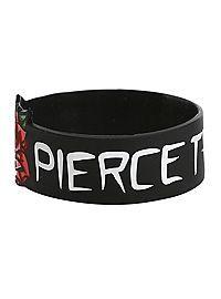 HOTTOPIC.COM - Pierce The Veil Rose Die-Cut Rubber Bracelet