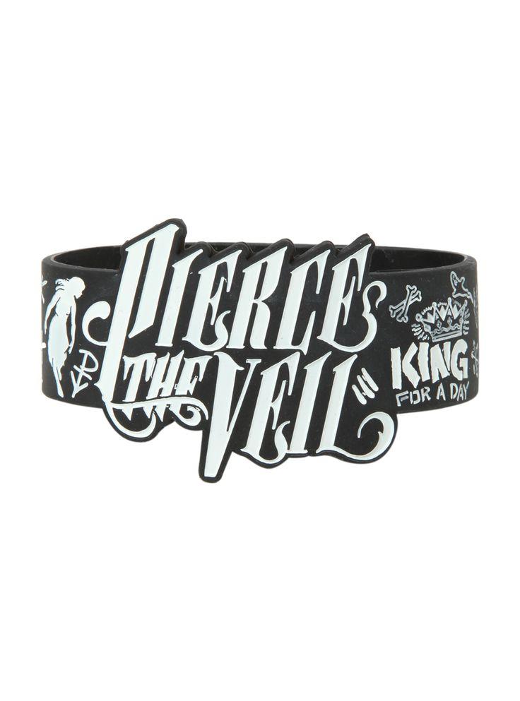 Pierce The Veil Die-Cut Drawings Rubber Bracelet | Hot Topic