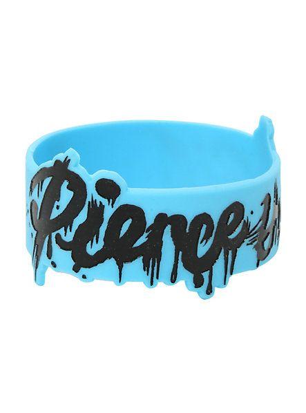Pierce The Veil Drip Logo Rubber Bracelet | Hot Topic