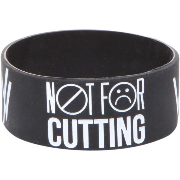 Sleeping With Sirens Wrists Rubber Bracelet | Hot Topic found on Polyvore