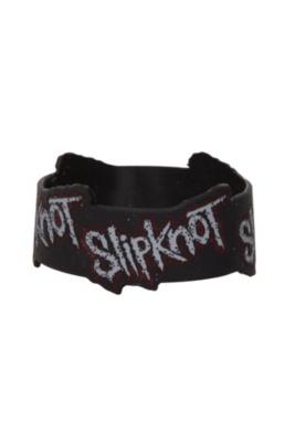 Slipknot Logos Die-Cut Rubber Bracelet