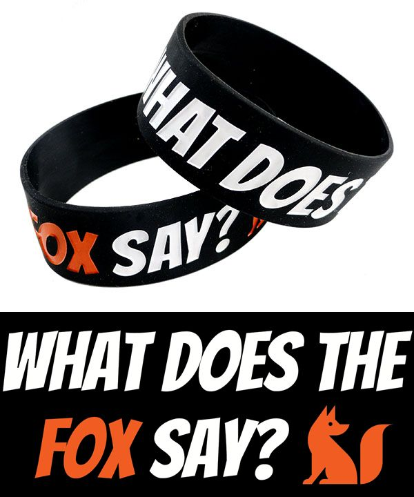 What Does the Fox Say? Rubber Bracelet