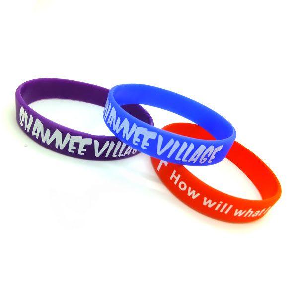 Promotional silicone bracelet gift #printedsiliconewristband #colorcoatedwristba...