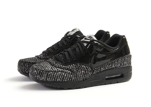 sale retailer b72bf b89e0 Nike Air Max 1 Vac Tech WMNS QS – Black   Black Metallic Silver