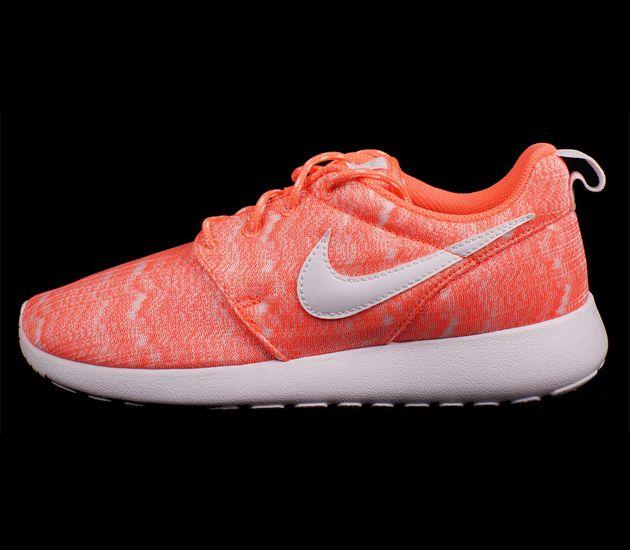 on sale 560ff 307c7 Nike Roshe Run Print GS – Bright Mango  White