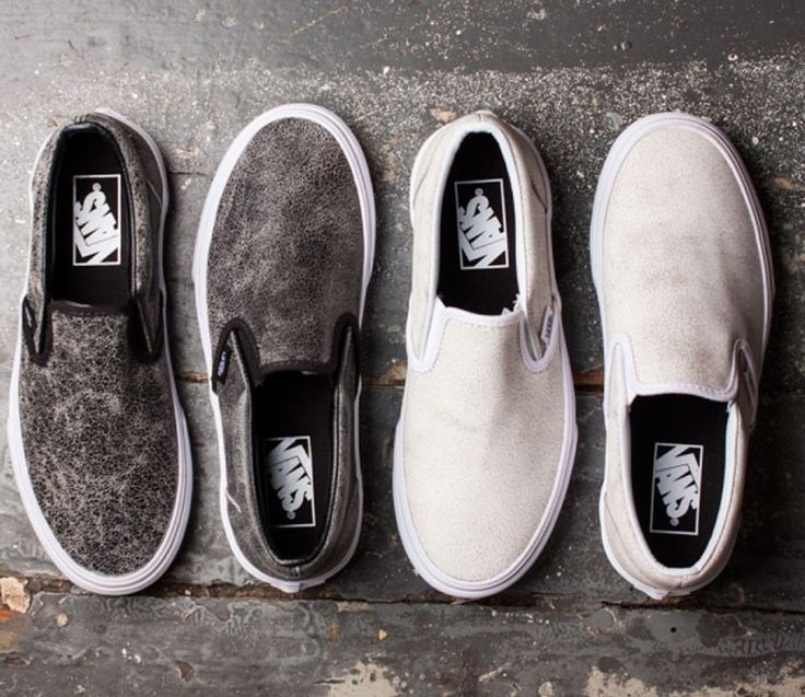 Vans Slip-On Cracked Leather Pack (Jesien 2015)