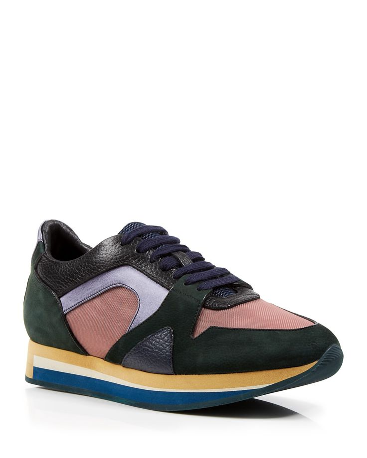 Burberry Lace Up Sneakers - The Field Color Block   Bloomingdale's