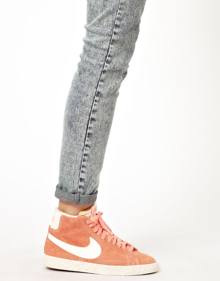 new concept 6ec50 5fcf4 Nike  Nike Blazer Mid Orange High Top Trainers at ASOS I WANT THESE SO BAD