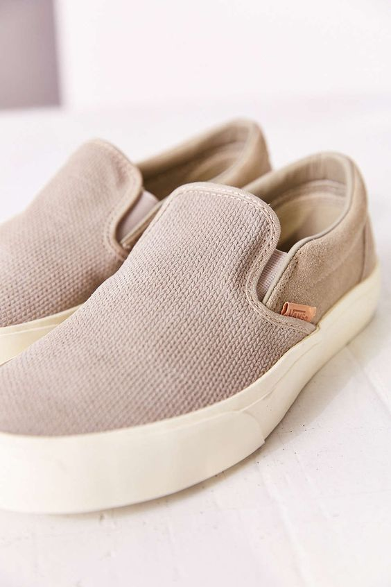 e97ab0b9b5 Trendy Women s Sneakers   Vans Classic Knit Suede Slip-On Womens ...