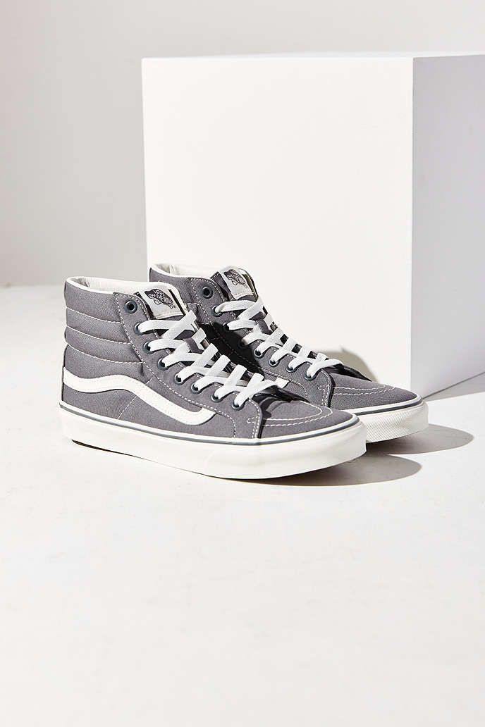 Vans Grey Slim Sk8-Hi Sneaker - Urban Outfitters