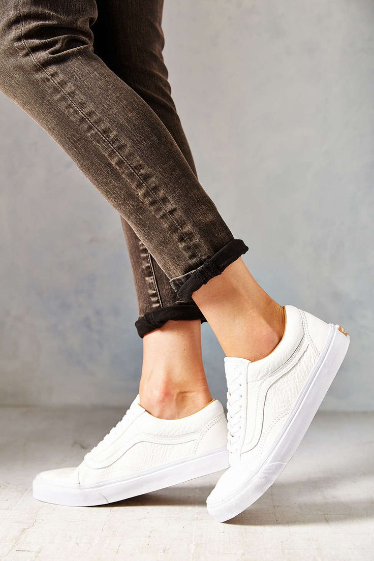 f68f3cde09b9 Trendy Women s Sneakers   Vans Premium Leather Old Skool Women s Low ...