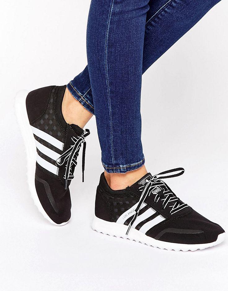 adidas Originals Black And White Los Angeles Trainers