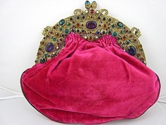 1920 sac à main en velours rose chaud   fr.weddbook.com