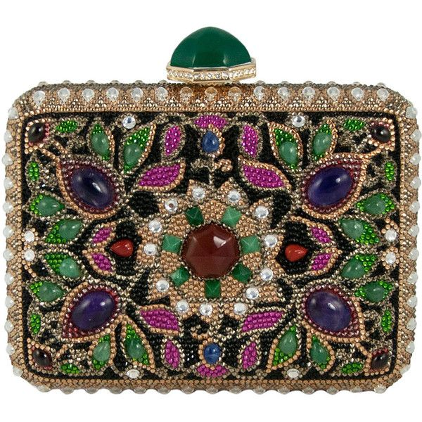 Judith Leiber Couture Jeweled Cabochon Rectangle Clutch Bag (€4.610) ❤ liked...