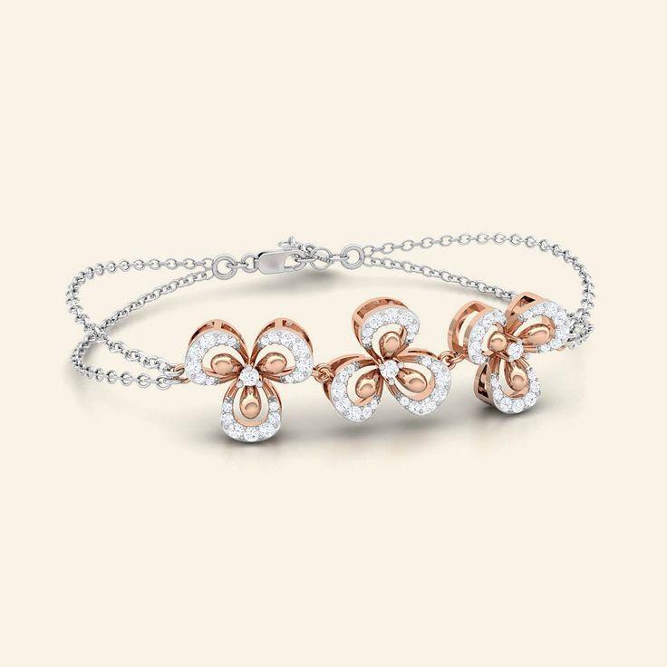 Buy Rosalita Diamond studded GOld Bracelet Jewellery Online - Caratstyle.com