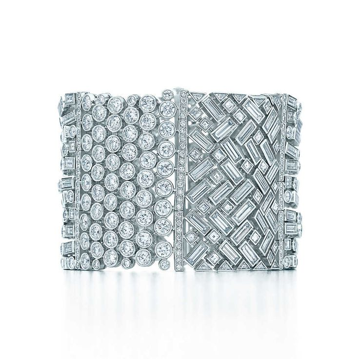 Wide Diamond Bracelet #tiffany www.kristoffjewel...