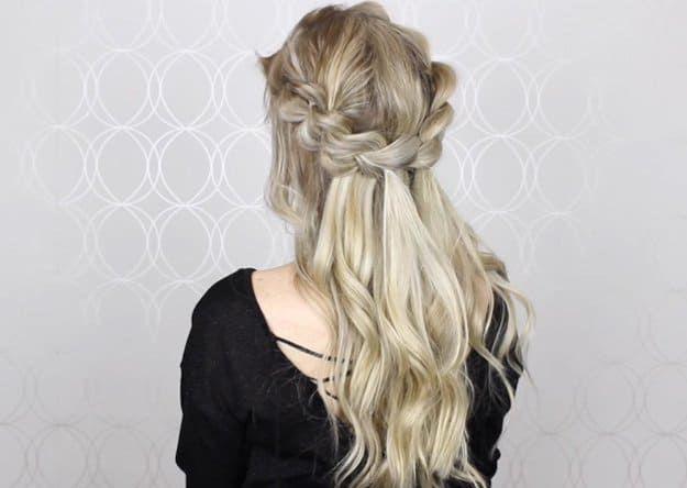 Hairstyles For Long Hair Alex Goubury S Half Up Half Down Pull
