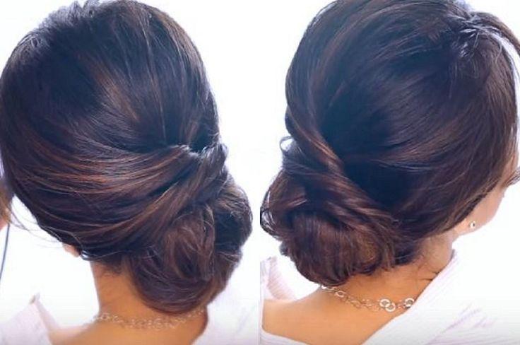 Elegant Bun Hair Tutorial In 2 Minutes!   Quick and Easy DIY Hair Tutorial with ...