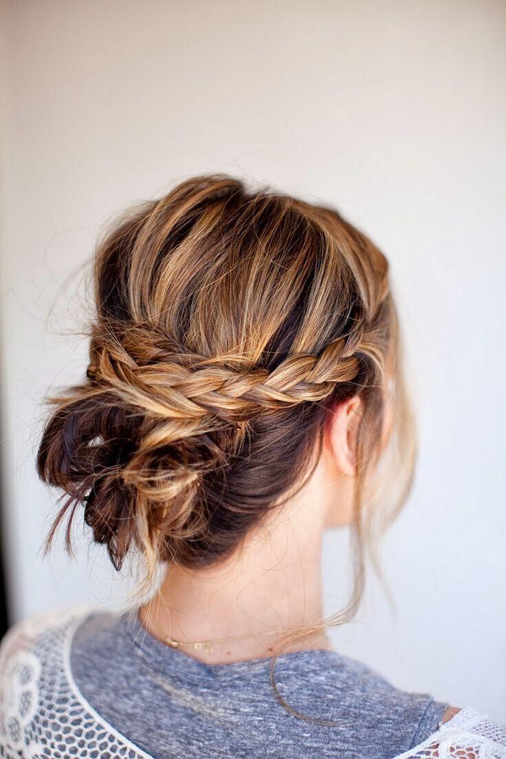 Messy Braid Bun | 10 Beautiful & Effortless Updo Hairstyle Tutorials for Medium ...