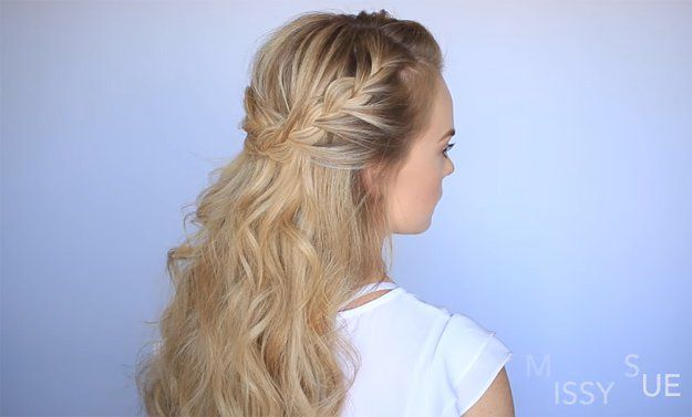 Missy Sue's Half Up French Braid Crown   Easy Braided Hairstyles For Spring ...