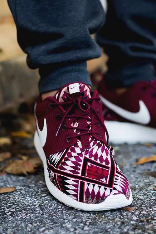 "Trendy Women s Sneakers   ""Red Native"" Nike Roshe Run Custom by Niwreig ffc2a1595e5d"