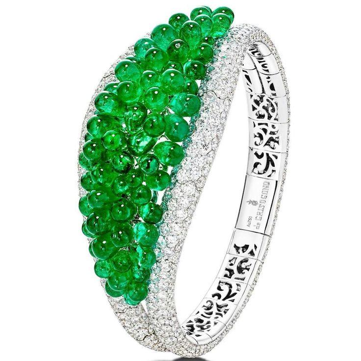 By de GRISOGONO #emeralds #diamonds #bracelet #mm_mucevhermagazin