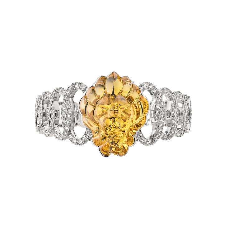 "CHANEL. ""Béryl Secret"" 18ct white-gold secret watch set with a 37.41ct carv..."