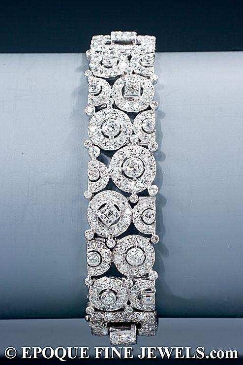 Cartier - Art Deco diamond bracelet.